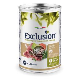 Exclusion MEDITERRANEO Monoprotein Adult all Breeds Agneau 24x400gr