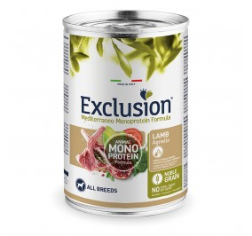 Exclusion MEDITERRANEO Monoprotein Adult all Breeds Lamb 24x400gr
