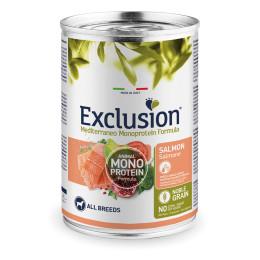 Exclusion MEDITERRANEO Monoprotein Adult All Breeds Saumon 24x400gr