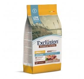 Exclusion ANCESTRAL LOWGRAIN Adult Small Poulet, Porc, Saumon 7kg