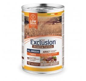 Exclusion Dog ANCESTRAL LOWGRAIN Adult All Breeds FARM 24x400gr