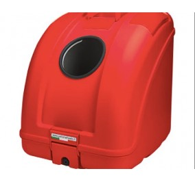 Box to transport all red, red insert