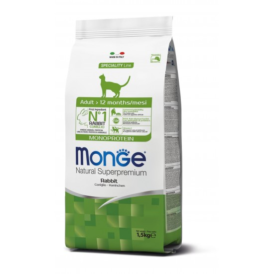 Monge Cat Monoprotein Adult Rabbit 1.5 kg