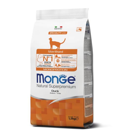 Monge Cat Monopro. Sterilised Duck 1.5 kg
