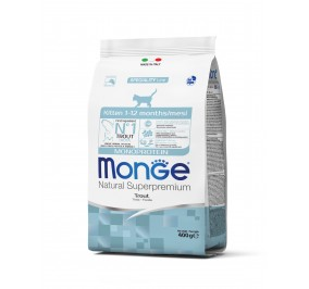 Monge Cat Monoprotein Kitten Trout 400g