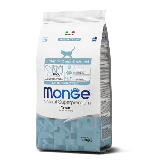 Monge Cat Monoprotein Kitten Trout to 1.5 kg