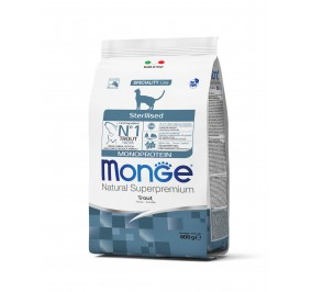 Monge Cat Monopr. Sterilised Trout 400g