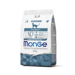 Monge Cat Monopr. Sterilised Trout 400g