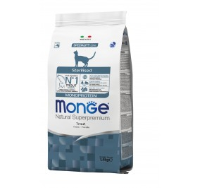 Monge Cat Monopr. Sterilised Trout 1,5kg