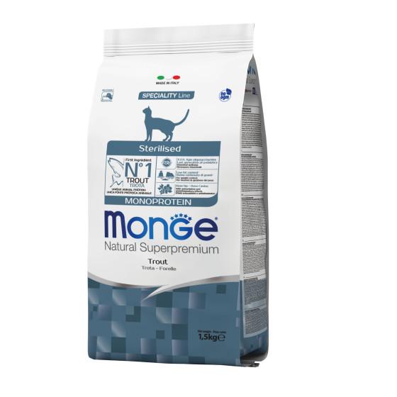 Monge Cat Monopr. Sterilised Trout to 1.5 kg