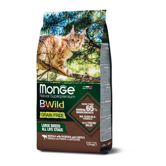Monge Cat BWild GF WIDE Buffalo 1.5 kg