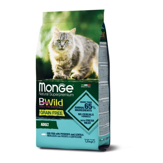 Monge Cat BWild GF Adult Codfish 1,5 kg