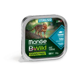 Monge Cat Bwild GF Sterilised Tuna 32x100g