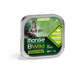 Monge Cat Bwild GF Sterilised Boar 32x100g
