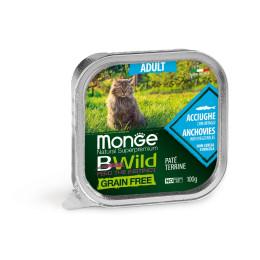 Monge Cat Bwild GF Adult Anchovies 32x100g
