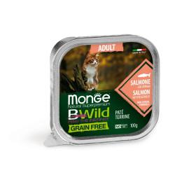 Monge Cat Bwild GF Adult Salmon 32x100g