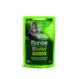 Monge Cat Bwild GF Sterilised Boar 28x85g