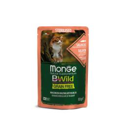 Monge Cat Bwild GF Sterilised Salmon 28x85g