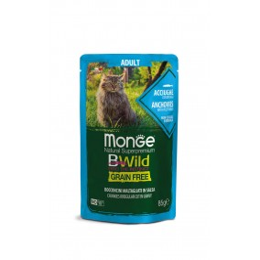 Monge Cat Bwild GF Adult Anchovies 28x85g