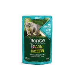Monge Cat Bwild GF Adult Codfish 28x85g