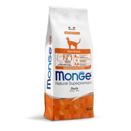 Monge Cat Monopro. Sterilised Duck 10kg