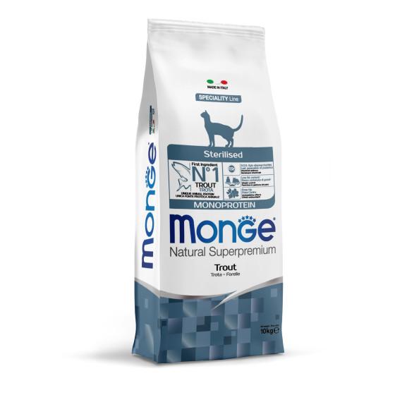 Monge Cat Monopr. Sterilised Trout 10kg