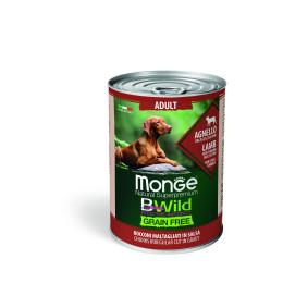 Monge Dog BWild Wet Adult Lamb 24x400g