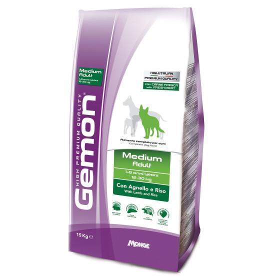 Monge Gemon Dog Adult Medium Lamb 15kg
