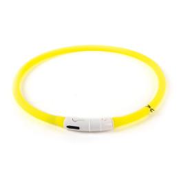 Collier Lumineux Freezack jaune (70cm/1cm)