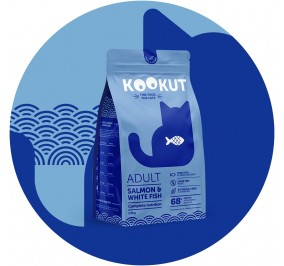Kookut Cat Saumon & Poisson Blc 1.5kg