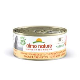 Almo Nature cat,  Thon et crevettes 150g