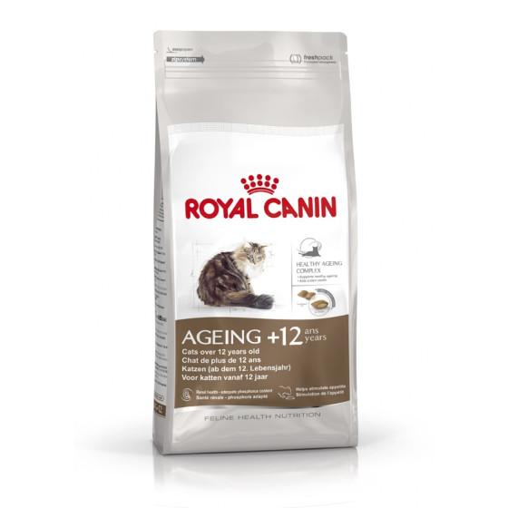 Dry kibble cat senior Royal Canin ageing +12 2kg