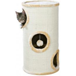 Cat Tower Samuel avec sisal, beige 70cm