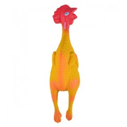 Toy Dog Latex Chicken 14cm