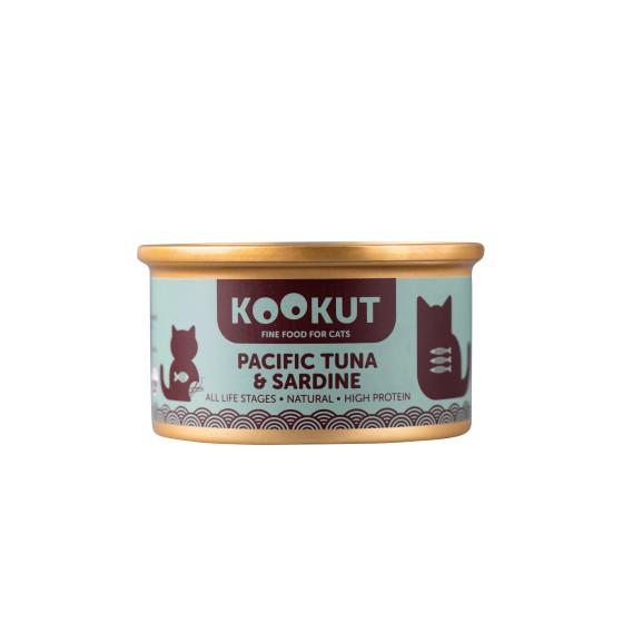 Kookut Cat Tuna Pacific & Sardine 70 g