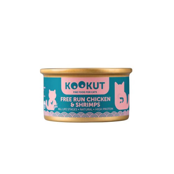 Kookut Cat Poulet & Crevettes 70gr