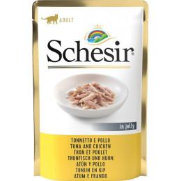 Schesir Cat Sachet 85g Thon&Filet de poulet