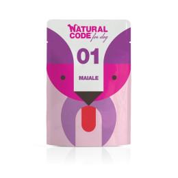 Natural Code DOG sachet N°1 Porc 100gr