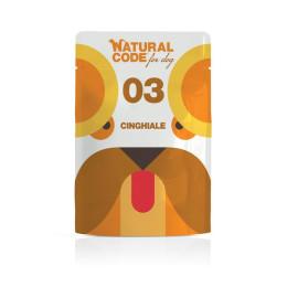 Natural Code DOG sachet N°3 Sanglier 100gr