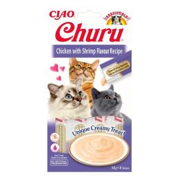 Inaba Churu Chicken Shrimp 4x14gr