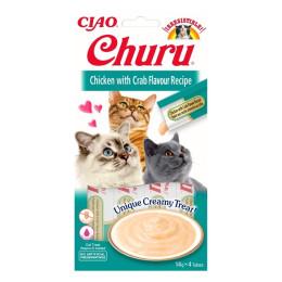 Inaba Churu Chicken & Crab 4x14gr