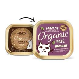 Lily's Kitchen Paté pour chat bio à la Dinde 85gr