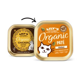 Lily's Kitchen Cat Paté Organic Poulet 85gr