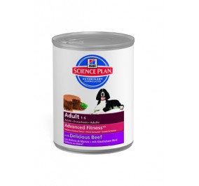 Hill's canine adult beef cans 370gr