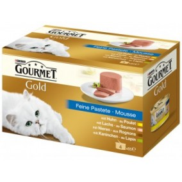 Nourriture pour chat Gourmet Gold Mousse assortis 4x85g