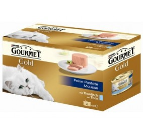 Cat food Gourmet Gold mousse with Tuna 4x85g