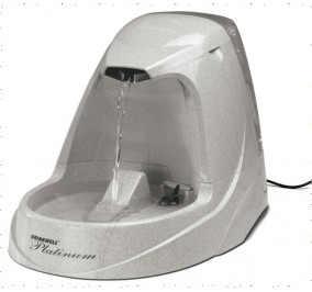 Fontaine pour chat Drinkwell platinium 5L, 26x25x40 cm