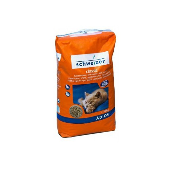 Litiere pour chats  Adios 10 KG  ( ADI )