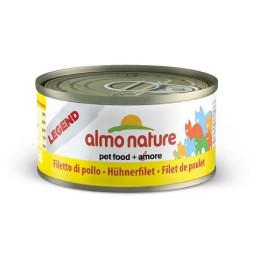 Nourriture pour chat Almo en boite avec du filet de poulet