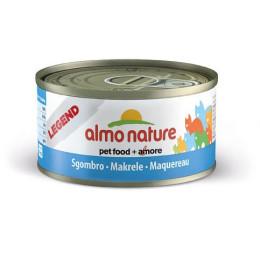 Nourriture pour chat Almo en boite de 70gr avec du maquereau.
